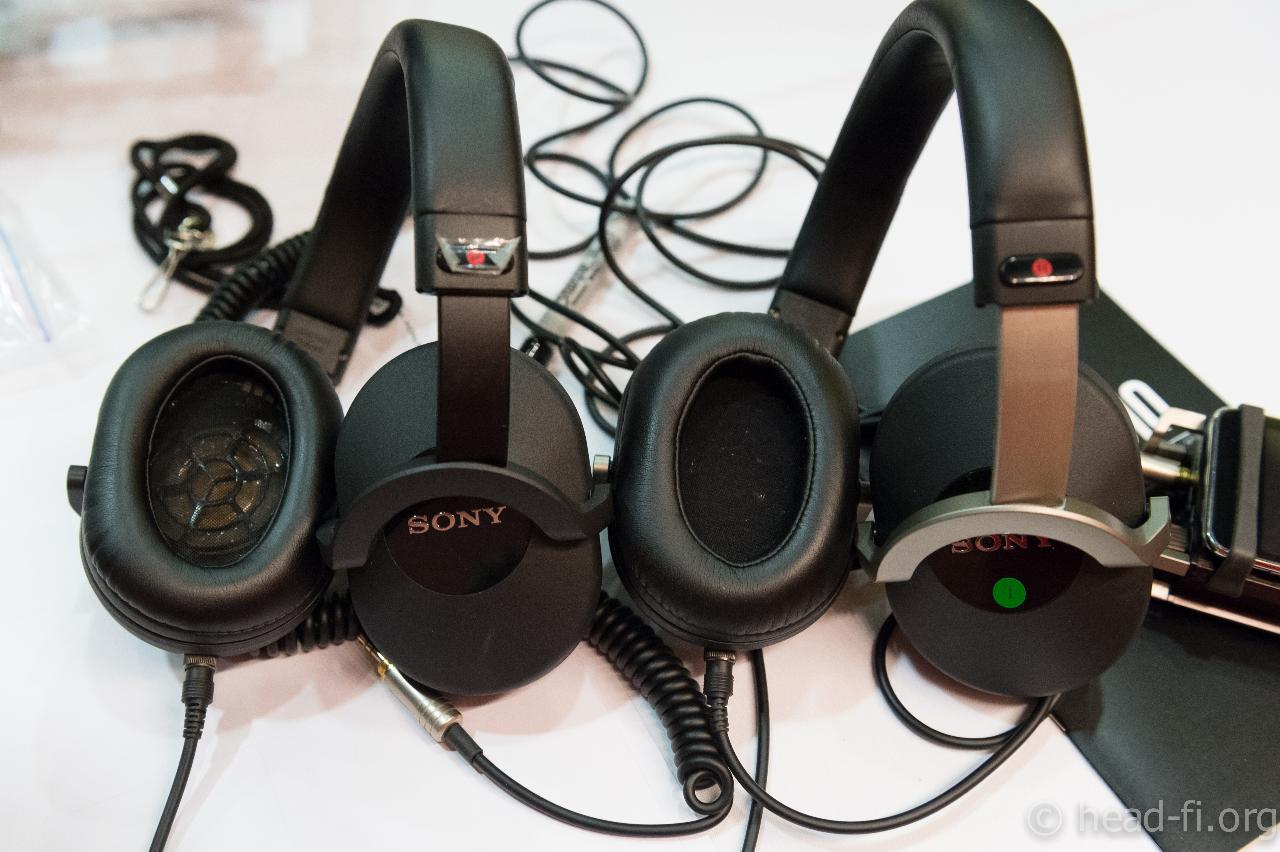 At CanJam @ RMAF 2012, Sony's Naotaka Tsunoda brought both the Sony MDR-7520 (left) and the...