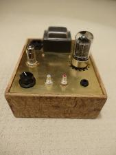 Bottlehead crack with it's new housing (solid oak flooring beaten up a bit with a grinder then...