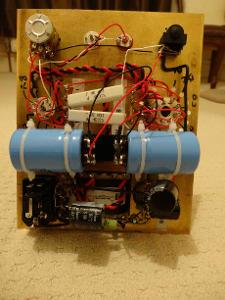 The innards as of today with 2x Mallory 100uf 350v capacitors installed.