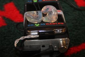 iPod Classic 7G with a Toxic Cable Silver Poison LOD to the Fostex HP-P1. ACS Custom T1 In Ear...