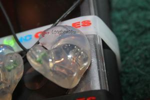 ACS Custom T1 In Ear Monitors with engraving. Currently only done in the UK lab.