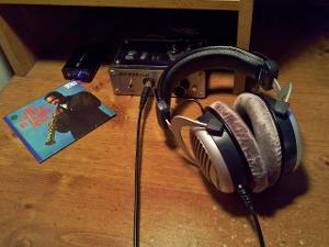 headphone listening...