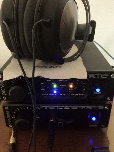 My current setup. Violectric V800+V200