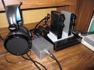 Nuforce Trifecta: HDP / Icon2 speaker amp / LPS power supply.  The power supply feeds both the...
