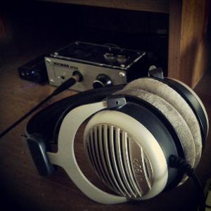 Headphone listening with the Beyerdynamic DT 990/600Ω.