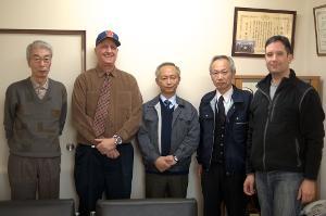 Stax President Yozo Meguro, Scott M Rivkin, Technical Director Kazuo Suzuki, Sales Director...