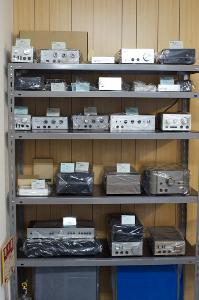 Stax products over the years, including D/A converters such as Talent DAC and the SRM-T2 amp.