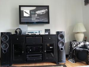 Living Room Setup: Wharfedale Evo2-30 Towers Wharfedale Evo2-Center Channel REL T2 Subwoofer...