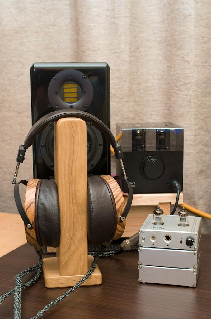 Audeze LCD-3s with ADAM ARTist 3 speakers, Woo Audio WA7 and ALO Audio PanAm.