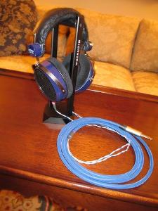 "HE-400 HifiMAN headphones and Mogami Quad Neglex custom cable - terminated with a 1/4"" Nuetrik..."