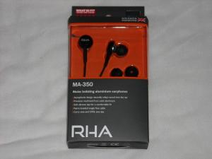 RHA MA-350 packaging