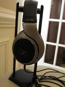 The beautiful HD-595 from Sennheiser.  This shot provides kind of an awkward color of the...