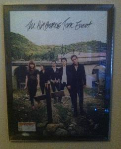 My poster of the band Airborne Toxic Event.