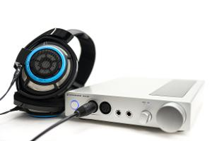 The Sennheiser HDVA 600 fully balanced headphone amplifier, paired with a limited edition...