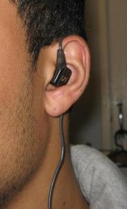 over the ear