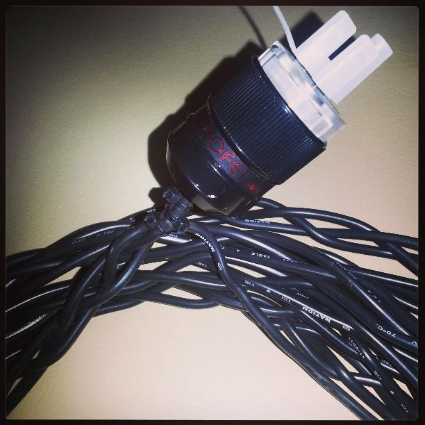 my own DIY power cable