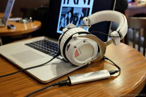 beyerdynamic Custom One Pro headphones with Meridian Explorer DAC / amp.