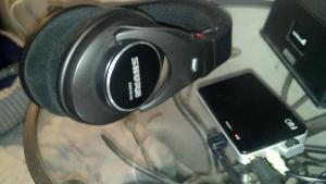 My portable rig consists of the Shure SRH-840's with the SRH-940 Velour pads and the FiiO E11...