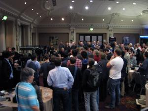 This was not the turnout for the best headphone, it was for the prize draw in which HD800s and...