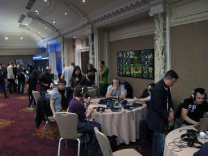 Some seriously kitted out home brew tables on this side of the ballroom