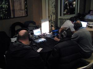 The expensive Sennheisers were the most popular on the iFi table