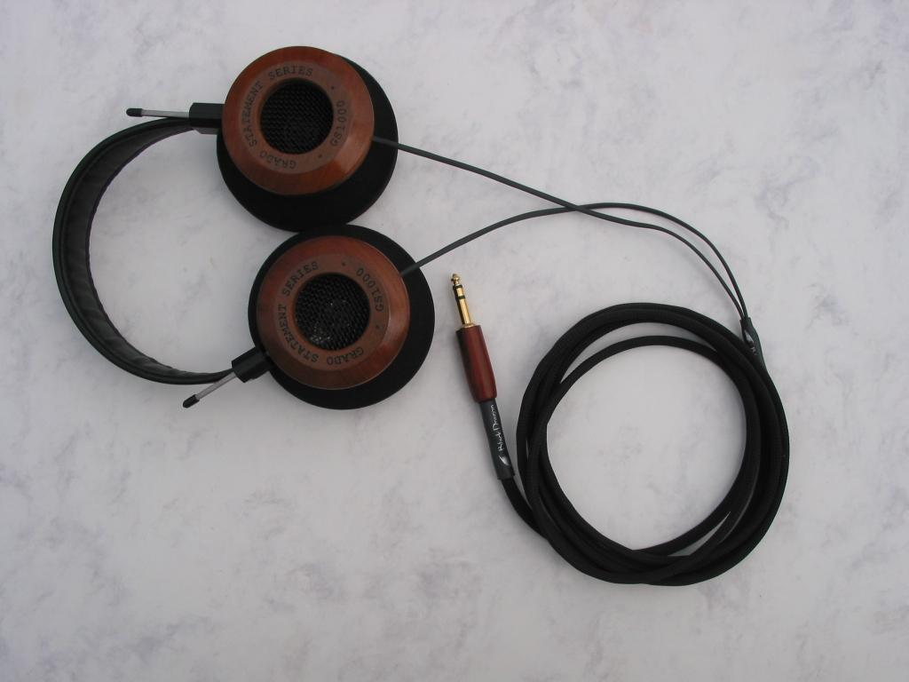 Grado GS 1000 with Black Dragon V2 Headphone Cable - modified by Moon Audio -- <br /> <br />...