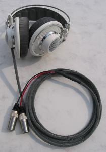 AKG 701 with Moon Audio Black Dragon V2 Headphone Cable with XLRs