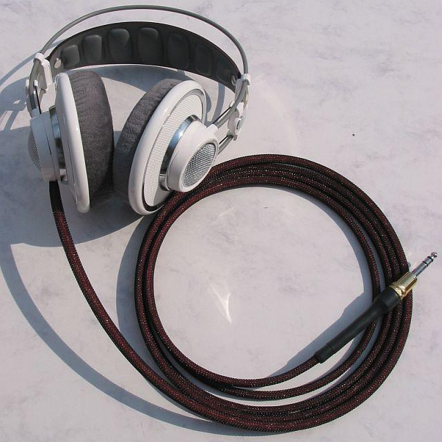 AKG 701 with Moon Audio Silver Dragon V2 Headphone Cable