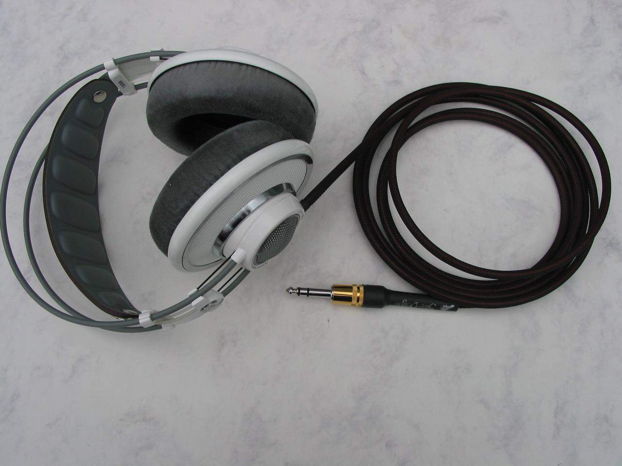 AKG 701 with Moon Audio Silver Dragon V1 Headphone Cable - the 'original silver dragon...