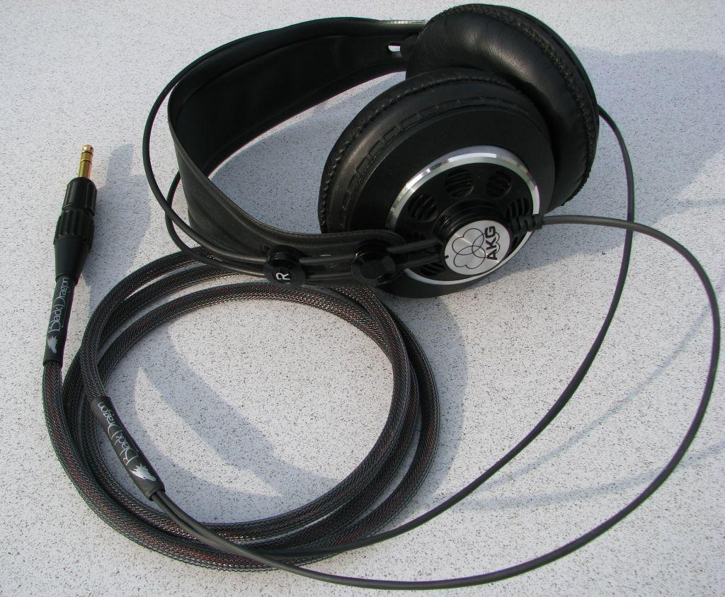 AKG Studio with Moon Audio Black Dragon V1 Headphone Cable - the 'original black dragon...