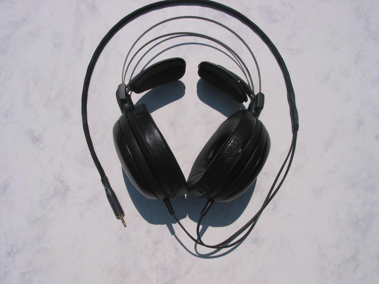 Audio Technica with Moon Audio Black Dragon V1 Headphone Cable - the 'original black dragon...