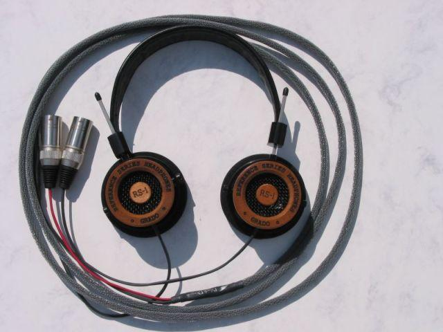 Grado RS-1 headphones with the Moon Audio Black Dragon V1 Headphone cable<br />