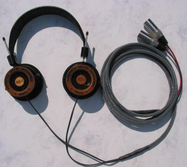 Grado RS-1 headphones with the Moon Audio Black Dragon V1 Headphone cable<br /> <br /> Now...