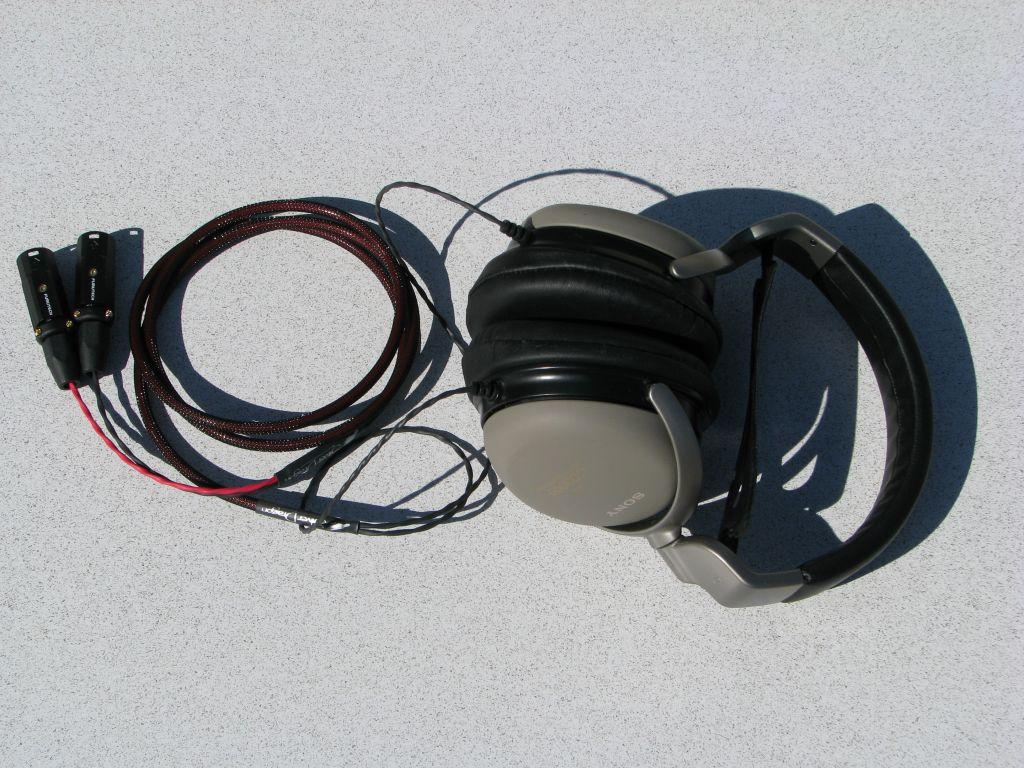 Sony MDR-CD3000 headphones with Moon Audio Silver Dragon V2 Headphone cable<br /> <br /> Now...
