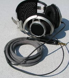 """Sony MDR-5000 with 10ft Moon Audio Black Dragon V1 headphone cable with 1/4"""" Furutech Plug"""