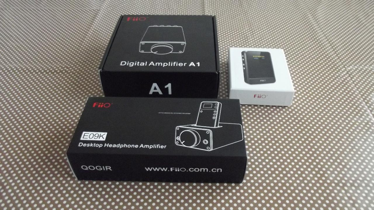 FiiO E07k, FiiO E09k and FiiO A1 packages.