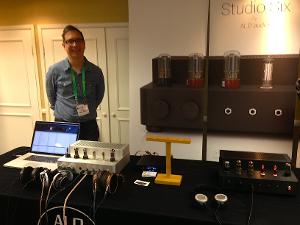 Ken Ball pictured with his new ALO Audio Studio Six Headphone Amp. Taken at T.H.E. SHOW in...