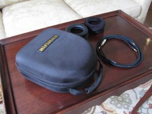 HE-500 Accessories.  Spare pads (pleather and velour), portable HifiMan carrying case, and a...