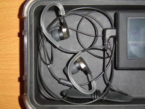 Audio Technica CK7 Canalphone (with Phonak PFE Silicone Ear Guides & UE Bi-Flange Ear Tips)