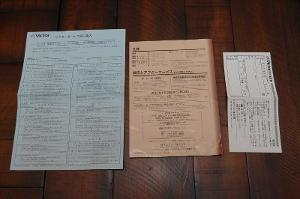 Flip side of paperwork. No idea what anything here says.