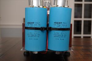 These are two Icar 200uf 450V metalized polypropylene power supply caps. Each of these replaces...