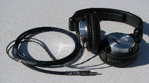 Modified Ultrasone HFI-580 with Blue Dragon V3 headphone cable with Neutrik Mini plug