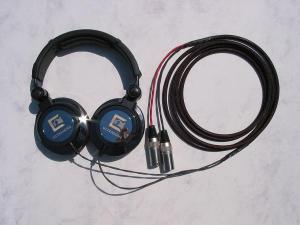 Modified Ultrasone Edition 9 Headphones with Balanced Silver Dragon V2 with Neutrik X-HD Male XLRs