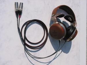 Modified Audio-Technica ATH-L3000 leather headphones w Silver Dragon V2 headphone cable with...