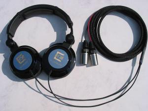 Modified Ultrasone Edition 9 Headphones with Balanced Black Dragon V1 with Neutrik X-HD Male XLRs