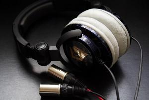 Modified Ultrasone Edition 7 Headphones with Balanced Black Dragon V1 with Neutrik X-HD Male XLRs