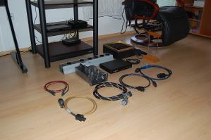 Audio equipment in parts