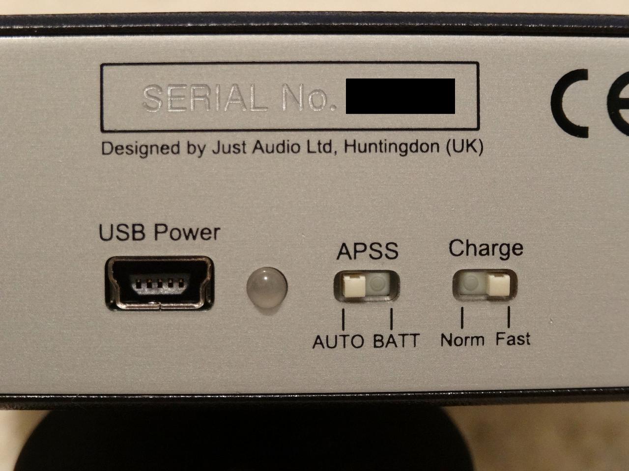 Just Audio AHA-120 Back of amp.