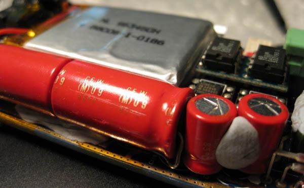D10 with BlackGates NX, 2*470uF/6.3V, 2*220uF/6.3V