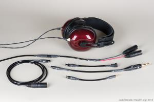 MrSpeakers Alpha Dog with Moon Audio Black Dragon adapter cable system. Using this cable system,...